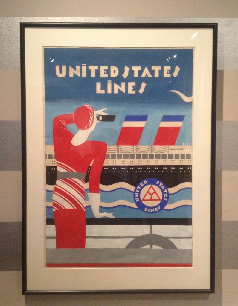 Franciska Clausen: plakatudkast til United States Lines, 1920'erne
