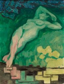 J. F. Willumsen: 'Den grønne pige', 1920