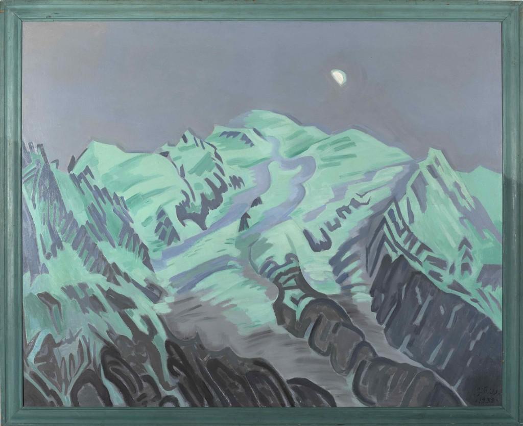 J. F. Willumsen: 'Sidste lysning på Mont Blanc', sidst i 1930'erne