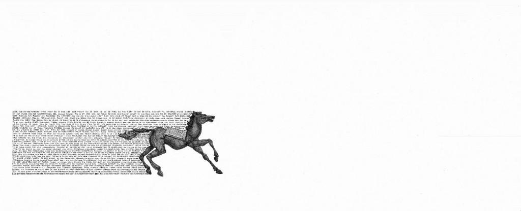Niels Pugholm arbejder med figur, ord - og masser af hvid baggrund