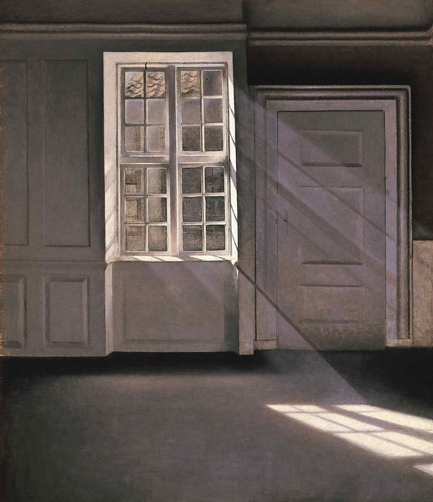 Vilhelm Hammershøi: 'Solskin', bedre kendt som 'Støvkornenes dans i solstrålerne', 1900. Tilhører Ordrupgaard. Foto: Pernille Klemp