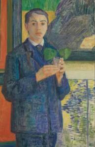 Sigurd Swane: 'Portræt af kunsthistorikeren Leo Swane', 1908. Nasjonalmuseet, Oslo