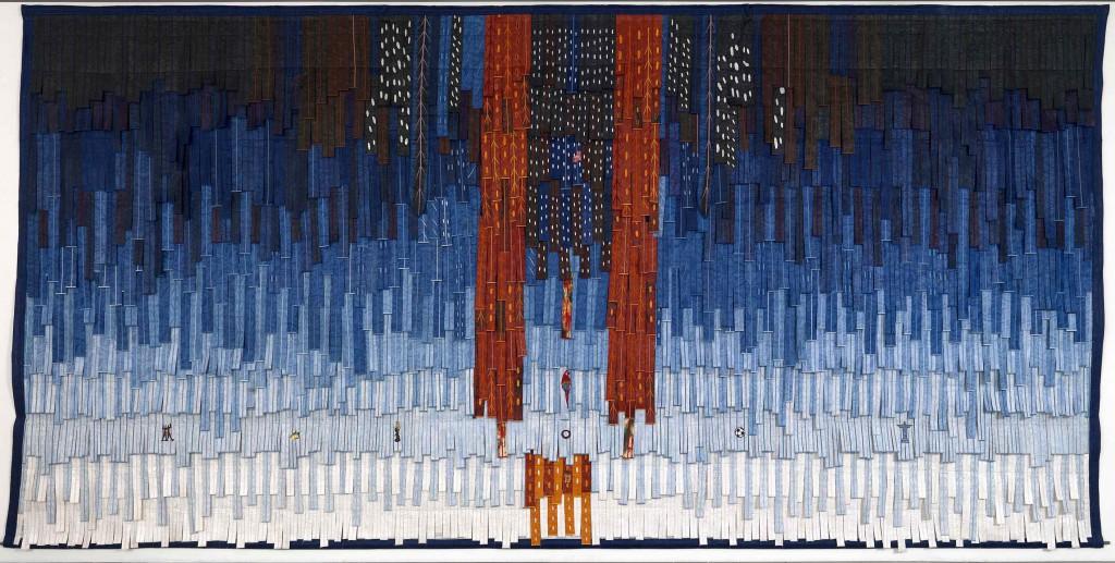 Abdoulaye Konaté: 'Brésil (Guarani)', 2015. Courtesy the artist and Blain Southern