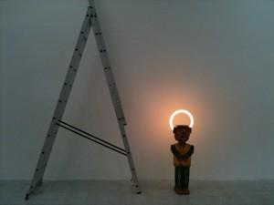 Mit eget foto af Kristian Busts værk på udstillingen 'Second-Hand', kurateret af A Kassen i IMO, 2010