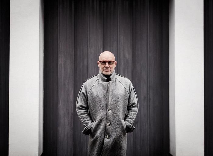 Brian Eno. Pressebillede fra Kunsthal Charlottenborg, 2016