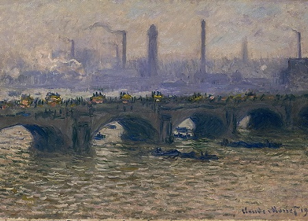 Claude Monet: 'Waterloo Bridge, gråvejr', 1903. Ordrupgaard