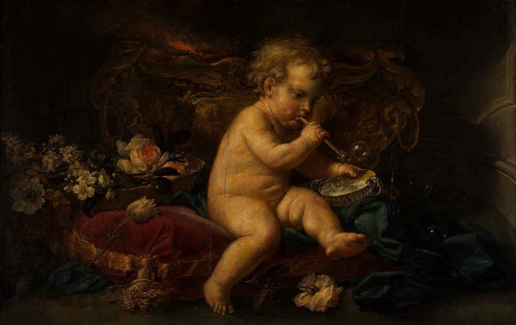 Ignaz Stern: 'Dreng der blæser sæbebobler', uden år. Thorvaldsens Museum. Foto: Thorvaldsens Museum