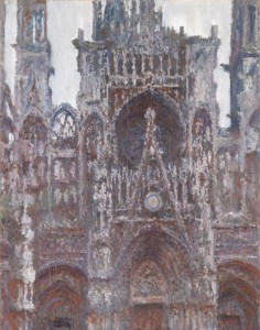 Claude Monet: 'Katedralen i Rouen. Indgangsportalen set forfra. Harmoni i brun', 1892-1894. Musée d'Orsay, Paris