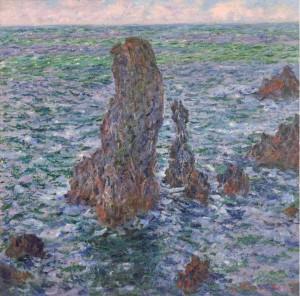 Claude Monet: 'Les Pyramides de Port Coton', 1886. Arp Museum