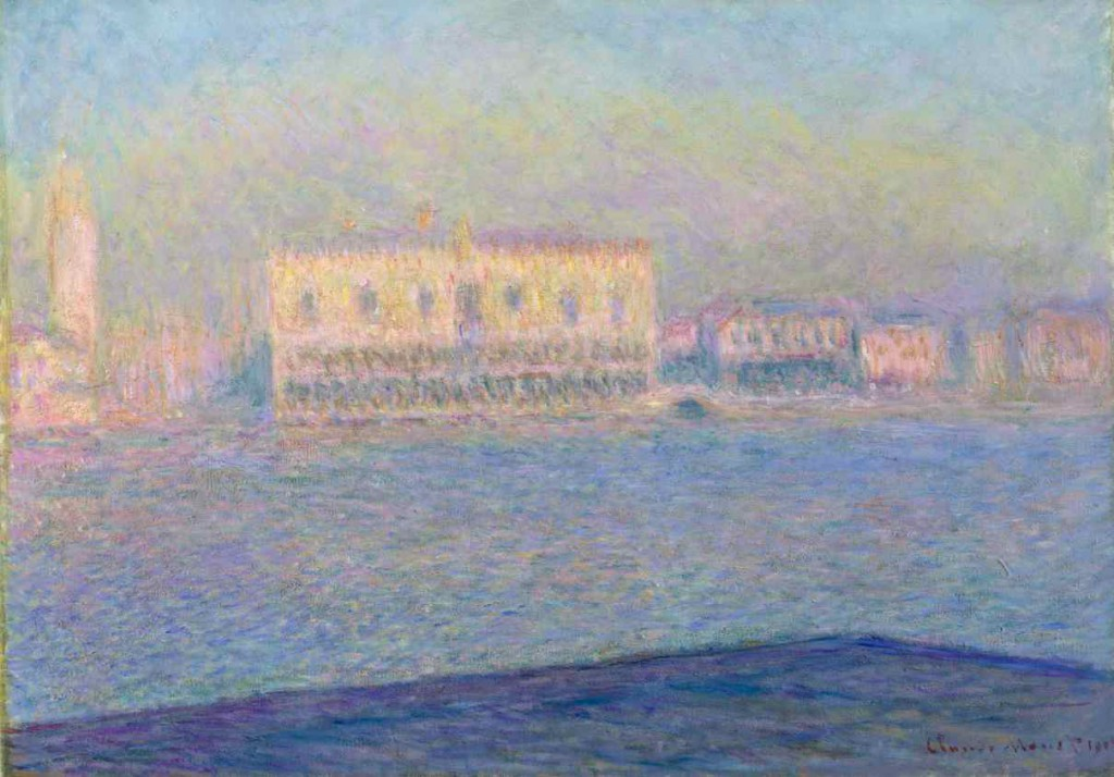 Claude Monet: 'Dogepaladset set fra San Maggiore', 1908. The Metropolitan Museum, New York