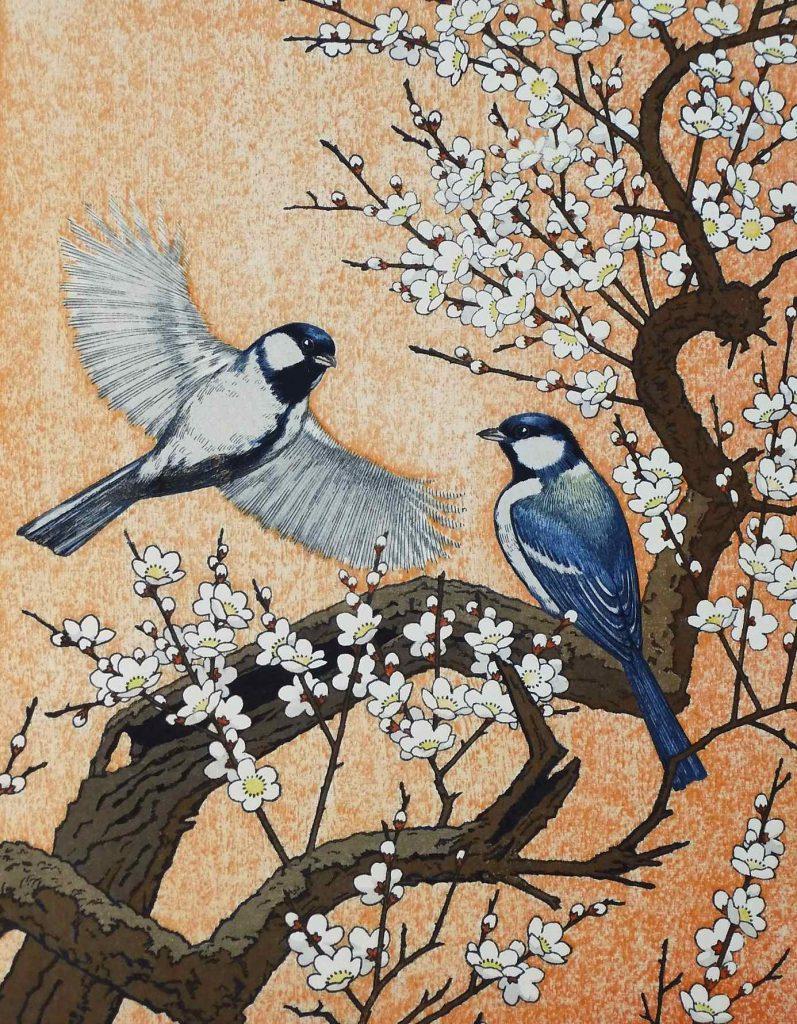 Yoshida Toshi: ' Spring,flying around the plum tree', 1982
