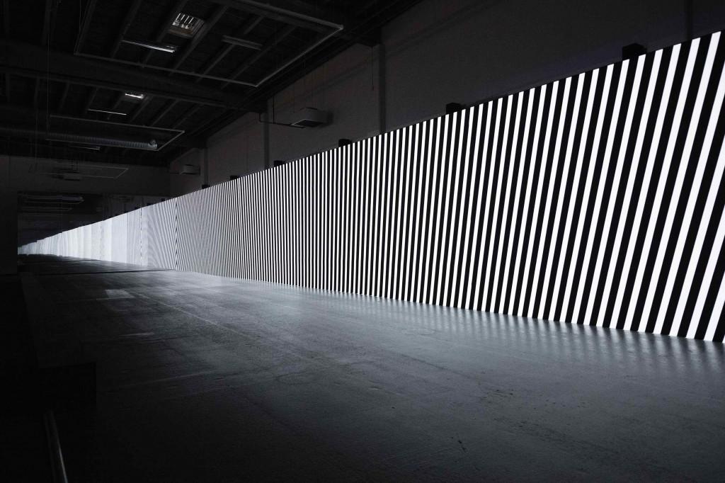 Carsten Nicolai: 'unidisplay', 2012. Copenhagen Contemporary, 2016. Foto: Anders Sune Berg